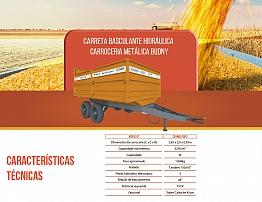 CARRETA BASCULANTE HIDRÁULICA CARROCERIA METÁLICA 6T BUDNY (CBHMB)