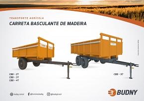 CARRETA BASCULANTE DE MADEIRA BUDNY (CBB 2T a 5T)