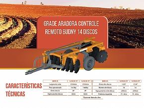 GRADE ARADORA CONTROLE REMOTO 14 DISCO BUDNY (GACRB)