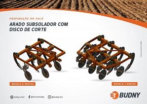 ARADO SUBSOLADOR COM DISCO DE CORTE BUDNY