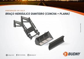 BRAÇO HIDRÁULICO DIANTEIRO (CONCHA + PLAINA)