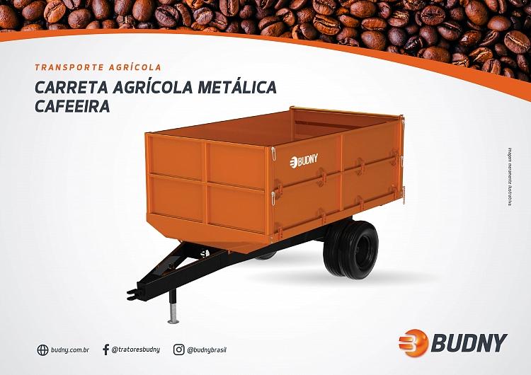 CARRETA AGRÍCOLA METÁLICA CAFEEIRA 5000KG BUDNY